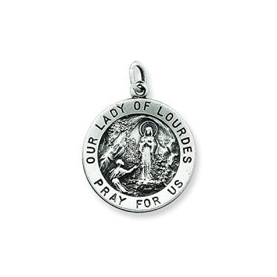 アンティーク Our レディ Of Lourdes メダル ペンダント ネックレス w/チェーン(海外取寄せ品)