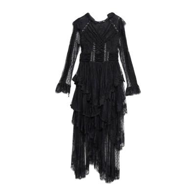 オディエアモ ODI ET AMO 7分丈ワンピース・ドレス ブラック S ポリエステル 98% / ポリウレタン 2% 7分丈ワンピース・ドレス