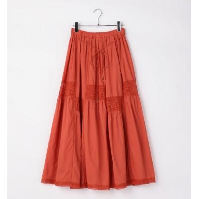 【シップス/SHIPS】 Khaju:レースロングスカート