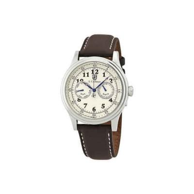 腕時計 コイフマン メンズ S Coifman Ivory Dial Brown Leather Men's Watch SC0275