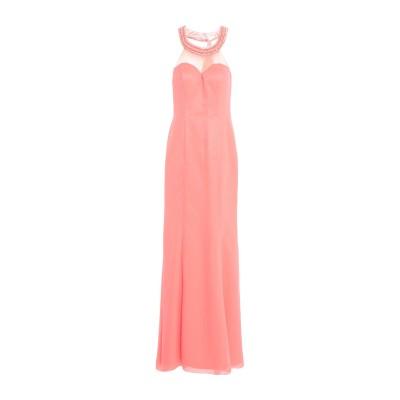 VITTORIA ROMANO ロングワンピース&ドレス サーモンピンク 42 ポリエステル 100% ロングワンピース&ドレス