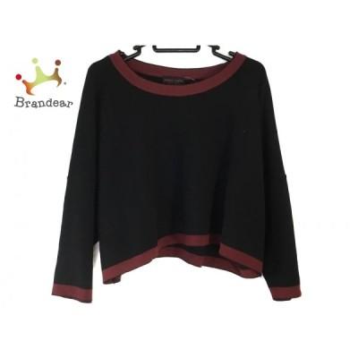 ヨシエイナバ YOSHIE INABA 長袖セーター レディース - 黒×レッド   スペシャル特価 20210106
