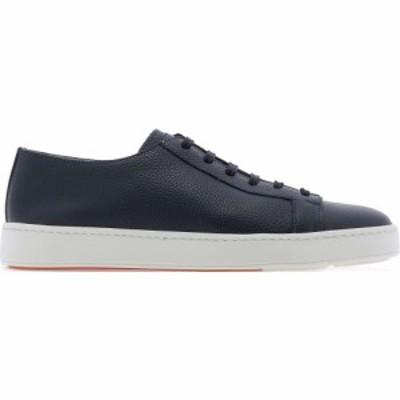 サントーニ Santoni レディース スニーカー シューズ・靴 Leather Sneaker Blue