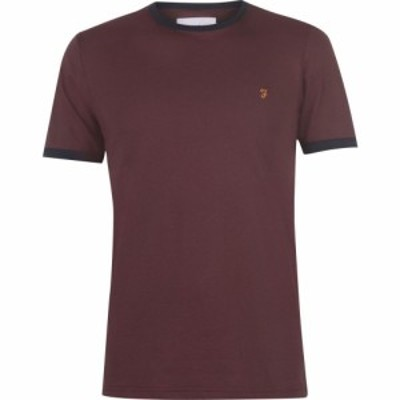 ファーラーヴィンテージ Farah Vintage メンズ Tシャツ トップス Farah Groves Ringer T Shirt Red