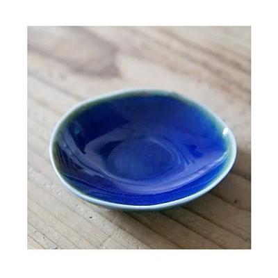 美濃焼 花豆皿 [4枚セット販売] (青)