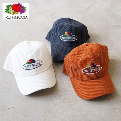 フルーツオブザルーム キャップ コーデュロイ ローキャップ FRUIT OF THE LOOM 14503100 帽子 ぼうし ロー cap ロゴキャップ