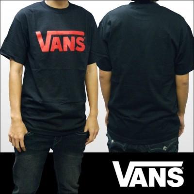 バンズ Tシャツ メンズ VANS 服  クラシック ロゴ ブラック レッド インポート ブランド ストリート サーフ スケーター スタイル