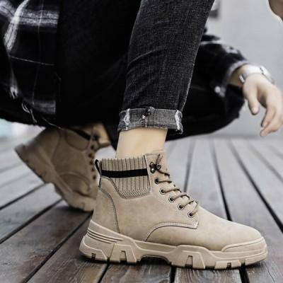 マーチンブーツ メンズ シューズ ショートブーツ 大きいサイズ メンズワークブーツ ハイカット ブーツ 紳士靴 アウトドア 秋冬 2020新作