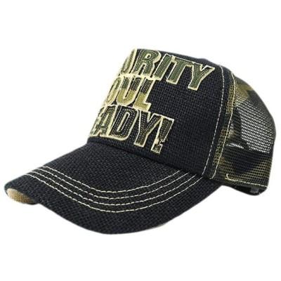 ビッグワッチ 帽子 大きいサイズ ヘンプ ガレージ キャップ メンズ L XL (ブラック/カモ柄)