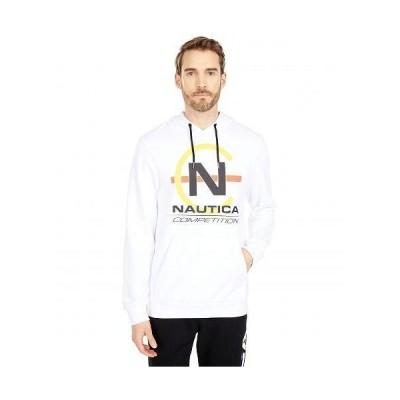 Nautica ノーチカ メンズ 男性用 ファッション パーカー スウェット Competition Pullover Fleece - Bright White