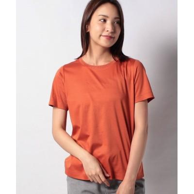 (Leilian PLUS HOUSE/レリアンプラスハウス)ビジューネックTシャツ/レディース オレンジ系