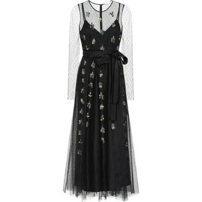 レッド ヴァレンティノ REDValentino レディース パーティードレス ワンピース・ドレス Embellished Embroidered Tulle Gown Nero