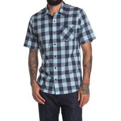 トラビス・マシュー メンズ シャツ トップス Barkley Plaid Button-Down Shirt AIRY BLUE