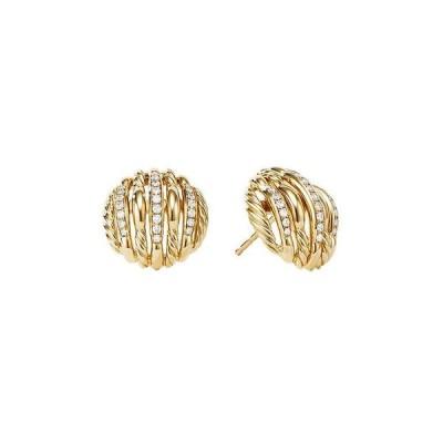 デイビット・ユーマン レディース ピアス・イヤリング アクセサリー Tides Stud Earrings in 18K Yellow Gold with Diamonds