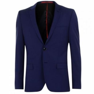 ヒューゴ ボス Hugo Business メンズ スーツ・ジャケット アウター Blazer Jacket Open Blue