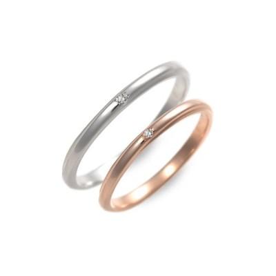 ピンクゴールド 婚約指輪 結婚指輪 エンゲージリング ペアリング ダイヤモンド ペア プレゼント ラバーズアンドリング 送料無料