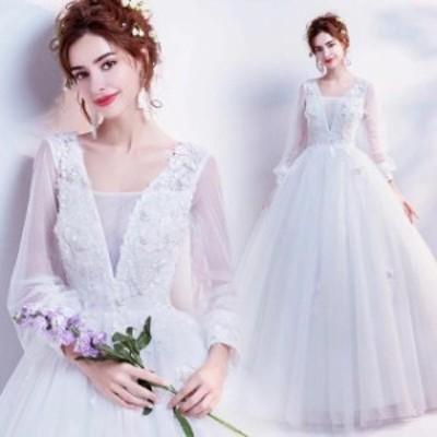 ウエディングドレス 結婚式ドレス フォーマル 披露宴 演奏会 発表会(XS~3XL)