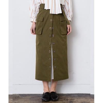 【シルフ】 プリーツデザインタイトスカート レディース カーキ 0 Sylph