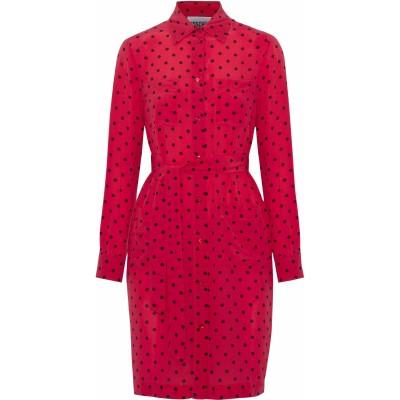 モスキーノ MOSCHINO ミニワンピース&ドレス レッド 40 シルク 100% ミニワンピース&ドレス