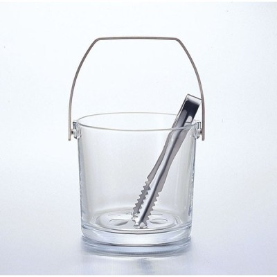 ガラス製品 ストレートアイスペール(M) [D134 x 125(最大径141)1200cc]  料亭 旅館 和食器 飲食店 業務用