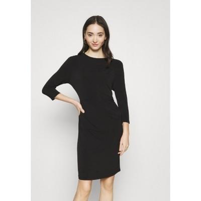 ヴェロモーダ ワンピース レディース トップス VMMELINDA DETAIL DRESS - Jersey dress - black