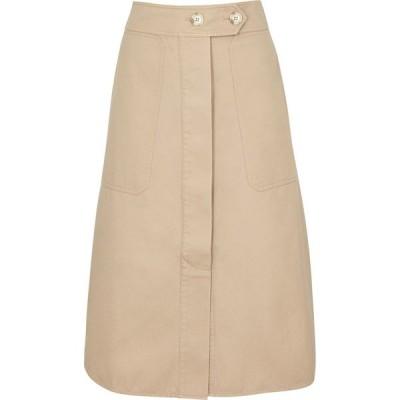 リーマシューズ Lee Mathews レディース ひざ丈スカート スカート Workroom Sand Twill Midi Skirt Natural