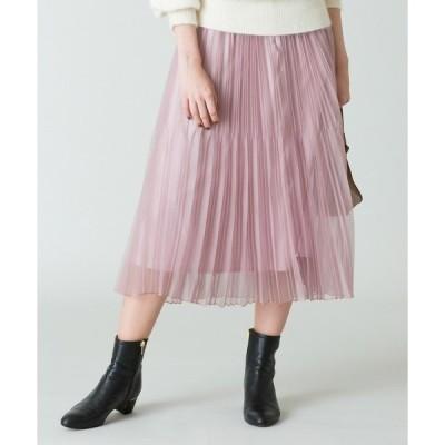 スカート 【LOULOU WILLOUGHBY】マットオーガンシアープリーツスカート