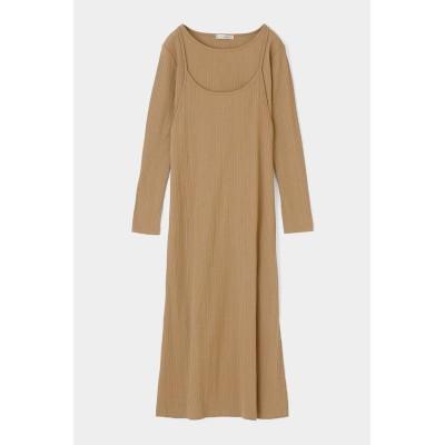 【マウジー】 LAYERED CAMI ドレス レディース L/BEG1 FREE MOUSSY