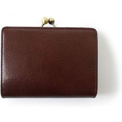 二つ折り財布 がま口 メンズ レディース 革 イタリアンレザー (ダークブラウン02) [並行輸入品]