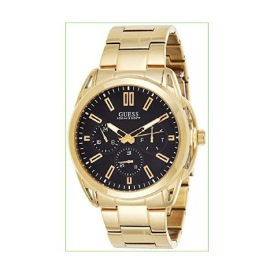 Guess Vertex Mens Analog Japanese Quartz Watch with Stainless Steel Gold Plated Bracelet W1176G3「並行輸入品」
