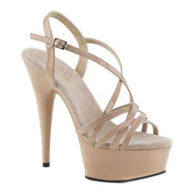 プリーザー レディース サンダル シューズ Delight 613 Strappy Sandal Nude Patent/Nude