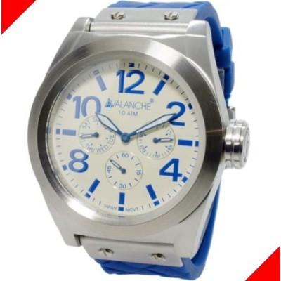 腕時計 メンズ アバランチ(AVALANCHE) ロイヤル(ROYAL) 曜日・日付表示 シルバー/ホワイト/ブルー色 WA88V1027BUSIL / 当店再検品済