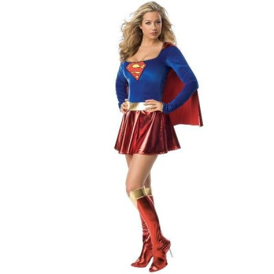 スーパーガール コスチューム コスプレ 衣装 スーパーマン 大人 女性用 レディース 仮装 ヒーロー スーツ