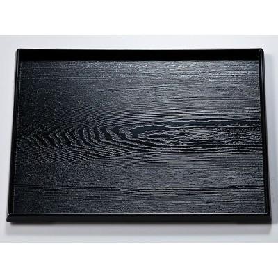 / 越前漆器 尺6 ダイヤ木目盆 黒 /和食器