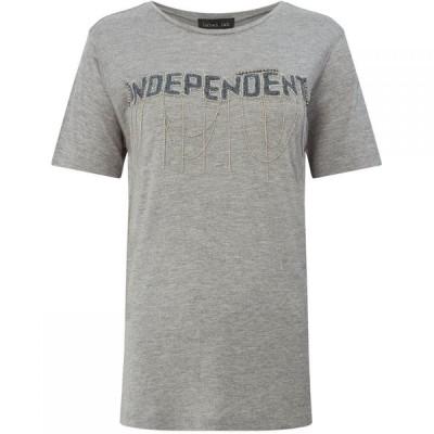レーベルラボ Label Lab レディース Tシャツ トップス Independent Beaded Chain T-Shirt Grey