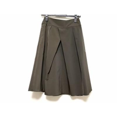 フォクシーニューヨーク FOXEY NEW YORK スカート サイズ38 M レディース 美品 ダークブラウン【中古】20201113