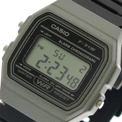 腕時計 ユニセックス カシオ CASIO F-91WM-1B クォーツ ブラック 液晶