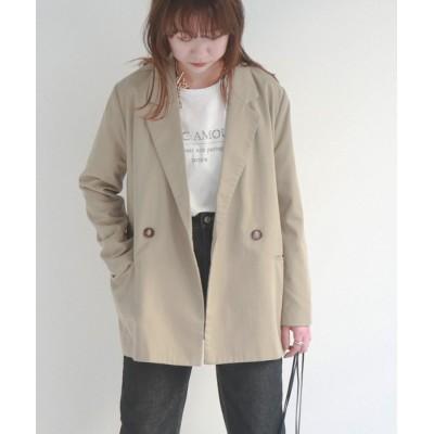 epimi e'pimmy / 【セットアップ対応】ツイルダブルブレストジャケット WOMEN ジャケット/アウター > テーラードジャケット