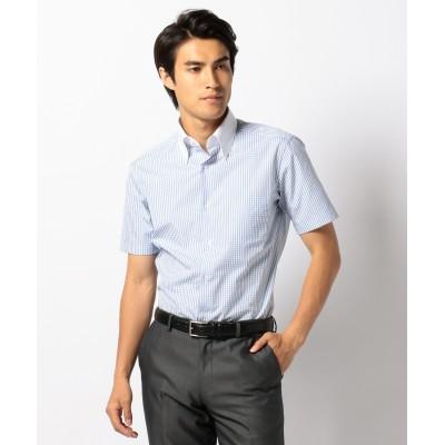 【enter G】【日本製】半袖クレリックシャツ