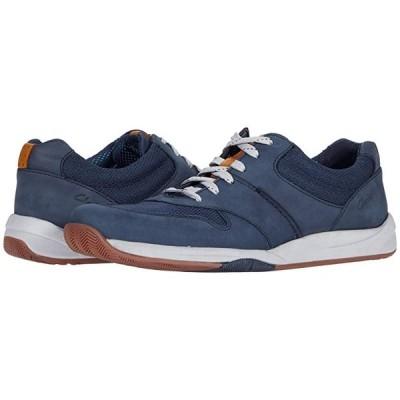 クラークス Langton Race メンズ スニーカー 靴 シューズ Navy Nubuck