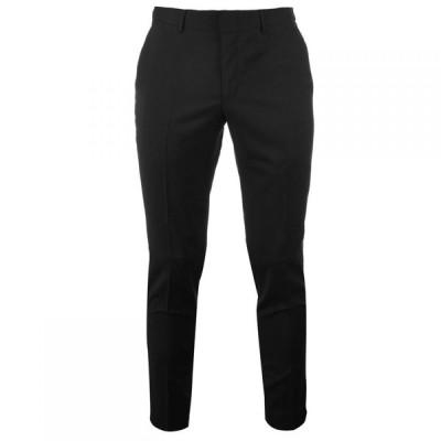 ヒューゴ ボス Hugo メンズ スラックス スリム スキニー・スリム ボトムス・パンツ Slim Fit Suit Trousers Black