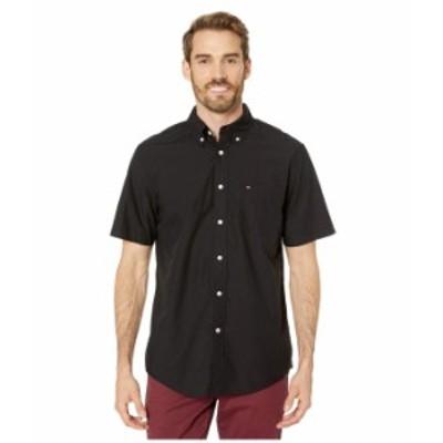 トミー ヒルフィガー メンズ シャツ トップス Maxwell Short Sleeve Button Down Shirt Deep Knit Black