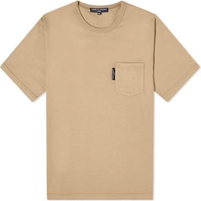 コム デ ギャルソン Comme des Garcons Homme メンズ Tシャツ ポケット ロゴTシャツ トップス Comme Des Garcons Homme Patch Logo Pocket Tee Beige Mix