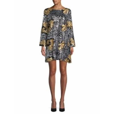 ベルバイバッジリーミシュカ レディース ワンピース Floral Sequin Shift Dress