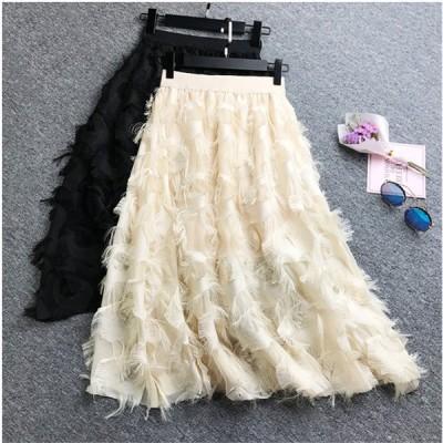 春夏準備応援SALE 新色追加 ファッション ロングスカート スーパー妖精 シフォンスカート