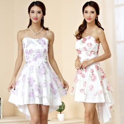 パーティードレス 大きいサイズ ぽっちゃり 送料無料 結婚式 ワンピース エレガントな花柄ドレス ミニドレス フォーマル F/2L/3L/4L 9944