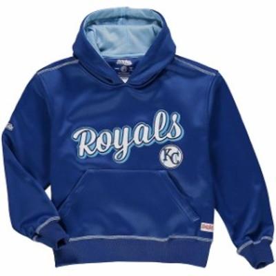 Stitches スティッチ スポーツ用品  Stitches Kansas City Royals Youth Royal Jumbo Pullover Hoodie
