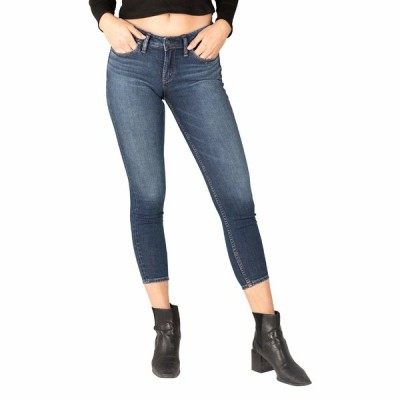 シルバージーンズ デニムパンツ ボトムス レディース Suki Mid-Rise Curvy Fit Skinny Jeans L93136EGX388 Indigo