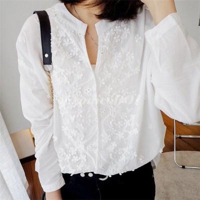 ブラウス レディース 長袖 春 シャツ トップス 無地 きれいめ 大きいサイズ 30代 40代 きれいめ オシャレ