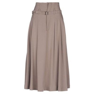 ALYSI ロングスカート ファッション  レディースファッション  ボトムス  スカート  ロング、マキシ丈スカート ライトブラウン